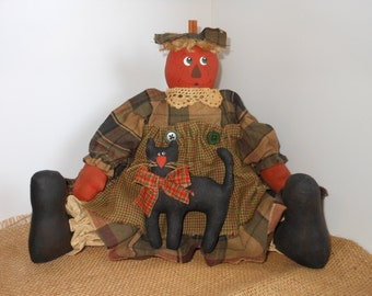 Miss Punkin Doll and Licorice Fall Decoration