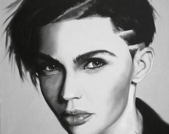 Ruby Rose Fine Art Print (Ruby Rose - Orange Is The New Black - Resident Evil - Stella Carlin - John Wick 2 - Androgyny - Art Print)