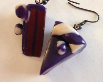 Polymer food earrings