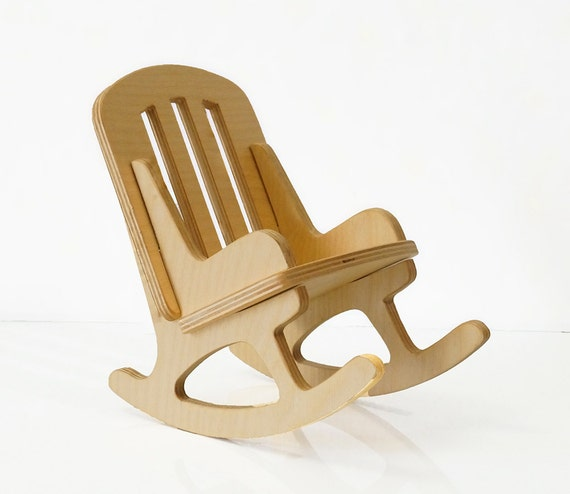items similar to wooden rocking chair for doll 12