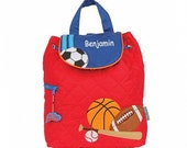 Personalized All Pro Sports Quilted Backpack