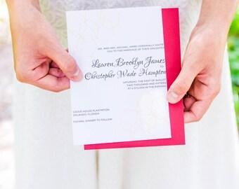 Gold Geometric Modern Wedding Invitation Suite