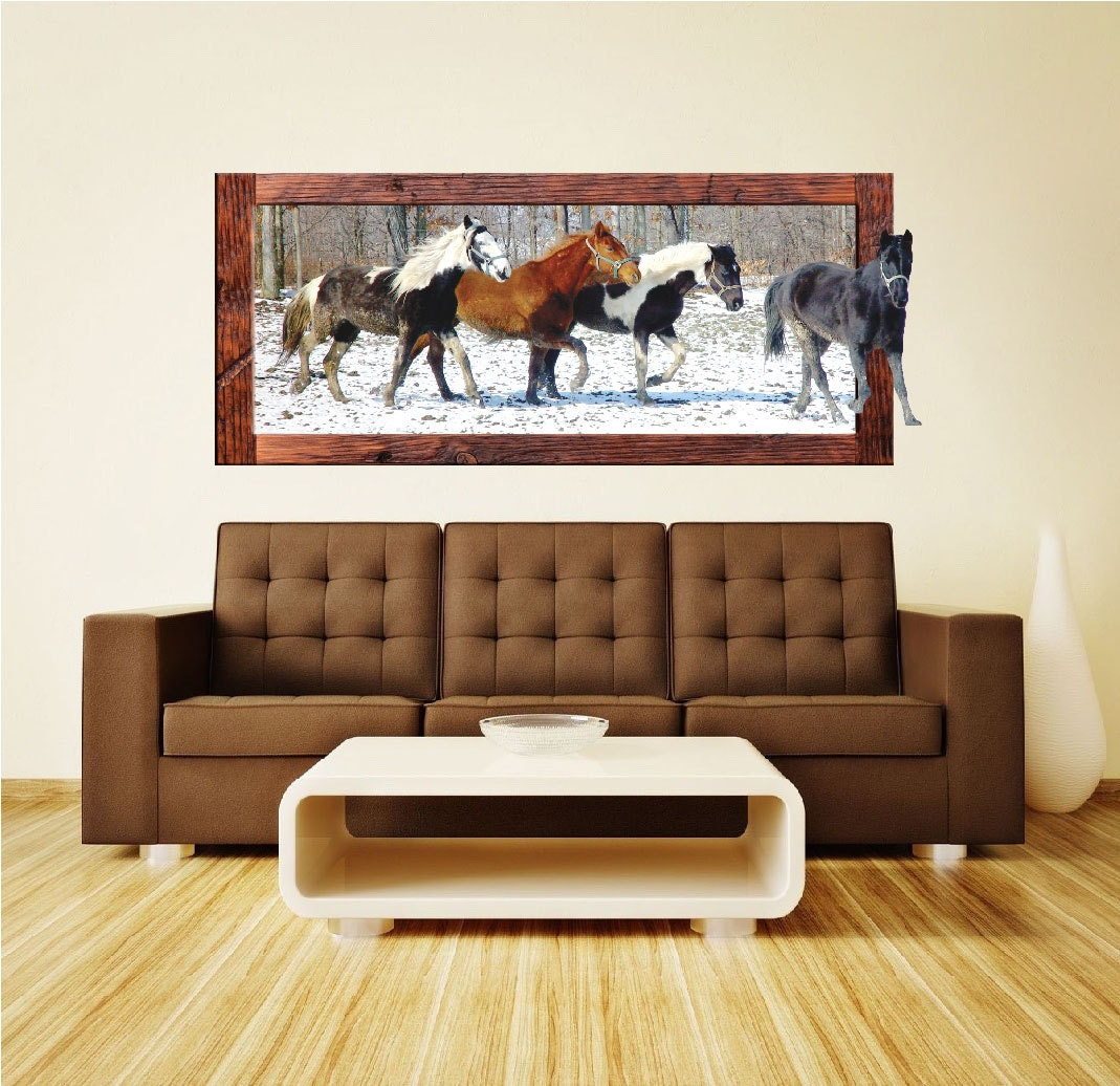 Horse wall decals horse wall murals horses wall paper for Equestrian wall mural