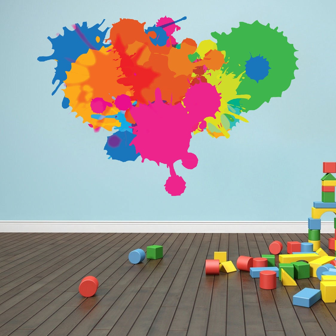 Splash Colorful Room Wall: Color Decal Color Splash Wall Decal Paint Splash Decal
