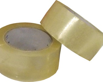 "72 Rolls Clear Packing Tape 2"" x 110 yards (330ft)-Sealing Packing Tape Carton Sealing Tape, SATISFACTION GUARANTEED"