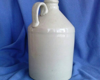 Vintage Syrup, Cider, Moonshine, Primative Pottery Jug with Internal Threads.