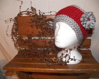 Knitted Ear Warmer w/ Flower