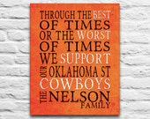 Oklahoma State Cowboys inspired Art Printable DIGITAL DOWNLOAD You Print Personalized Best of Times parody Stillwater gift, 8x10 11x14