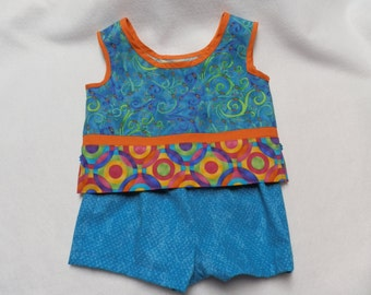 Girl's Crop Top with shorts