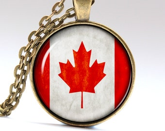 Otava Necklace Canada Pendant Canadian Jewelry Canada Flag LG414
