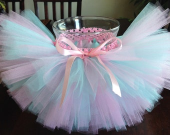 Aqua and pink tutu, aqua tutu, pink tutu, pink and blue tutu, birthday tutu, baby tutu, newborn tutu, toddler tutu, girl tutu, photo prop