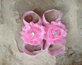 Pink baby barefoot sandals, light pink barefoot sandals, newborn barefoot sandals, baby barefoot sandals, baby shoes, pink