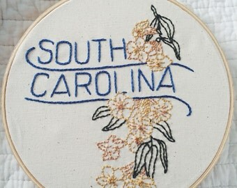 "South Carolina - Yellow Jessamine 8"" Hoop"