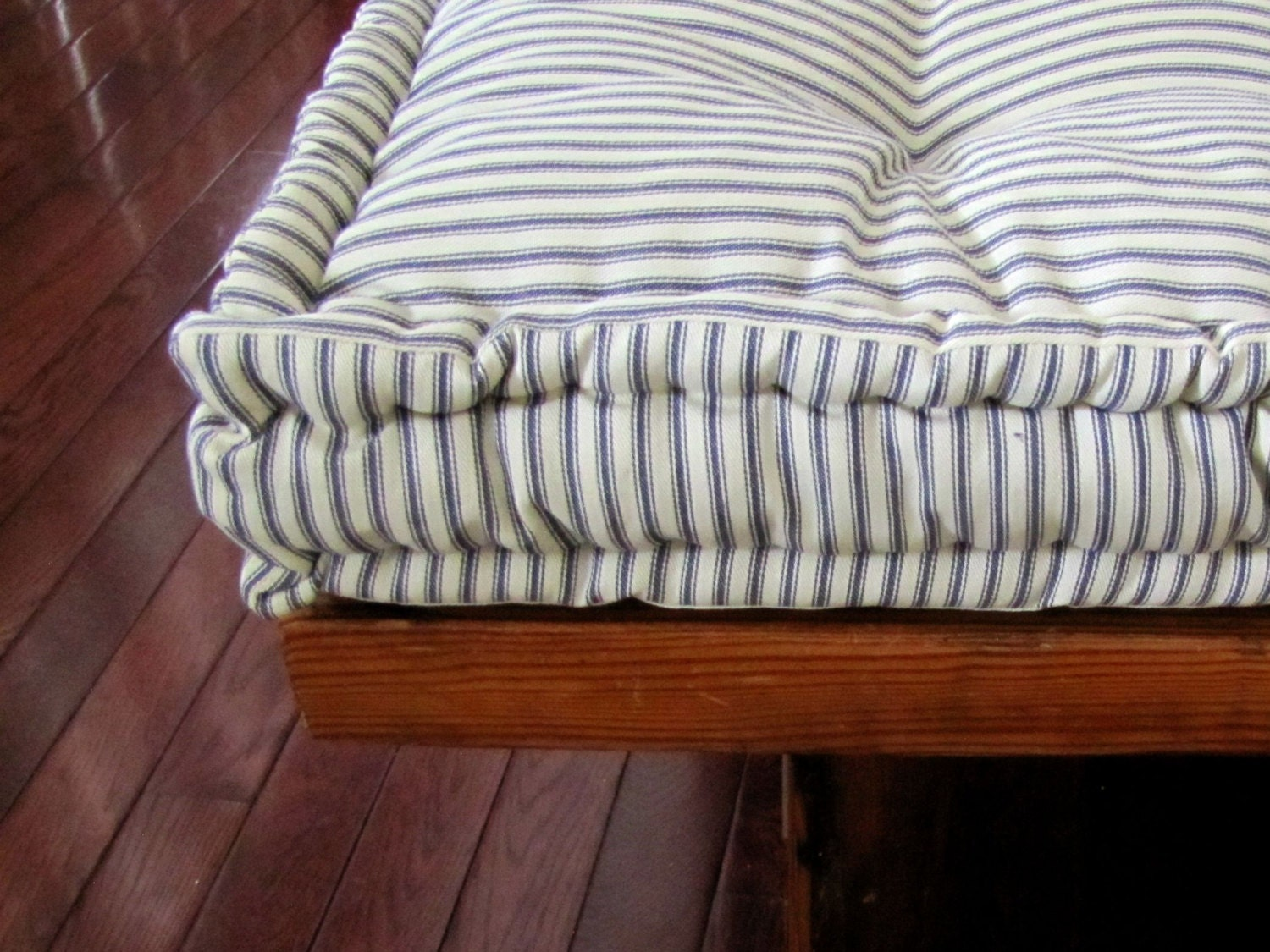 Custom Bench Cushion Ticking Stripe Window Seat Cushion