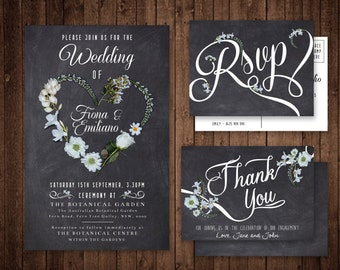 Wedding Invitation Set - Custom Digital File