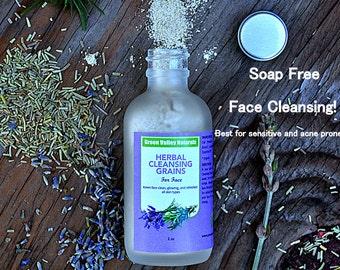 Herbal Cleansing Grains / Face Mask / Lightens Acne Scars /Lightens Dark Spots / Nourishes And Softens All Skin Types. Organic