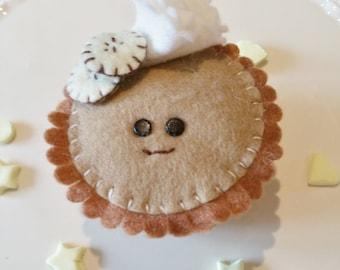 Banoffee Pie, pies with eyes, fake pie, bananas, cream