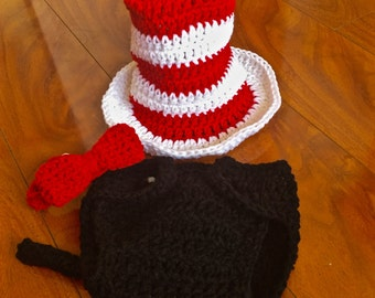 Crochet Cat in the Hat Baby Dr. Seuss Costume