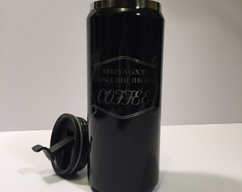 Personalized Laser Engraved Travel Mug 15 OZ.