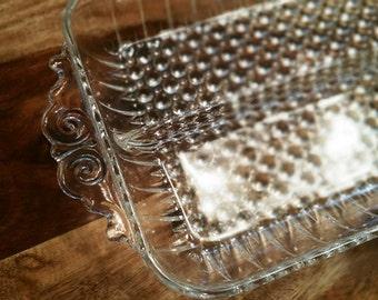Beautiful Hobnail Glass Relish Dish