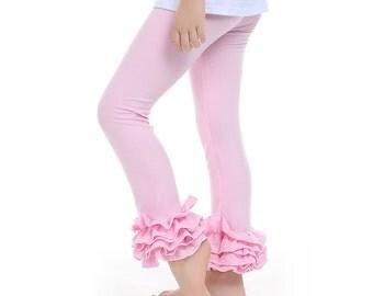 Ruffle leggings, Cotton Ruffle Leggings,  Ruffled leggings, girls ruffled pants, icing leggings, girls icing leggings, ruffle pants, ruffle