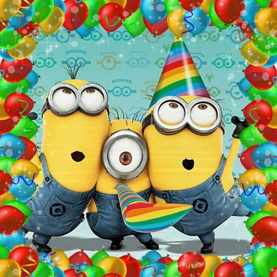 Crazy image pertaining to minion birthday cards printable