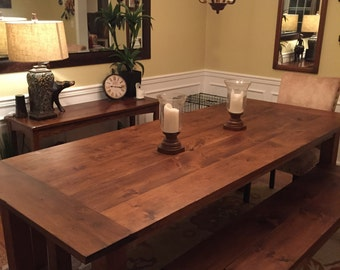 Custom Early American Farm Table Up To 9 Length