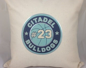 Personalized Sport/Number Throw Pillow