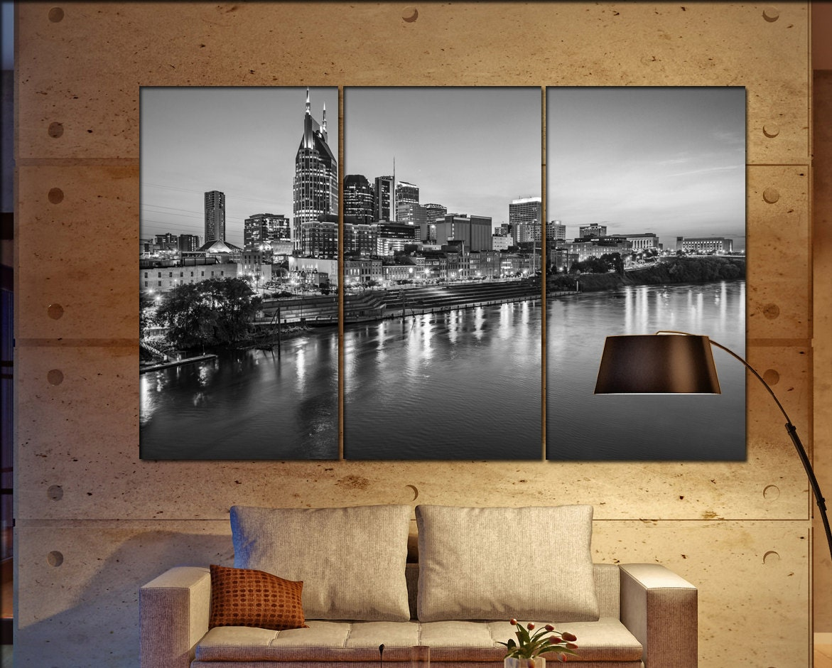 Nashville Wall Art nashville skyline wall art print prints on canvas skyline of