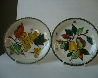 Blue Ridge Fruit Plates PV , Set of 2