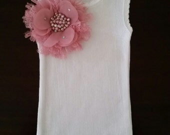 Baby girl vintage inspired singlet.Embellised singlet.Baby girl singlet. Sizes 0000,000,00,0,1,2