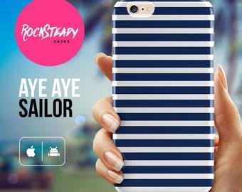 Navy Stripe iPhone 6 case, 6 Plus case, iPhone 7 Case, iPhone 5s ,5C case, apple iphone case, samsung galaxy s7, s6, s5 case, sailor stripes