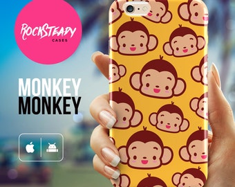Monkey iPhone 6 Plus case, yellow iPhone 6 case, iPhone 5S case, samsung s5 case, cute iPhone 6 case, Monkey iPhone 6 Plus cover, UK cases