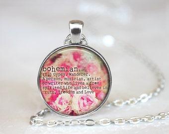 Boho Jewelry, Boho Necklace, Bohemian Necklace, Bohemian Jewelry, Bohemian Definition Necklace, Gypsy Jewelry