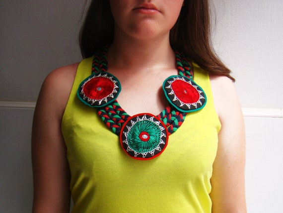 Items similar to mexican necklace tissue jewelry