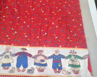 RAGGEDY FRIENDS 3+ yards cotton fabric Marcus Bros textiles.  Extremely Rare!