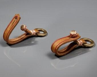 Porte clés en cuir - Porte clés gaucho en cuir - Porte clés argentin - Porte clés homme et femme - Cuir tressé - Accessoire en cuir