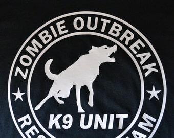 Zombie Outbreak Response Team K9 Unit Tshirt
