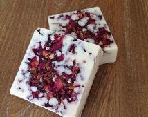 Rose Garden Bath Truffle/Bath Bomb/Organic Shea Butter/Vegan