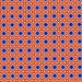 Orange and Blue Print on 100% Cotton