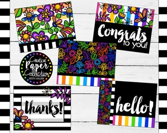 Happy Doodles: Notecards and Envelopes (20 Pack)