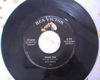 Eight Elvis Presley 45 RPM Records From the Fifties