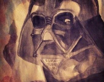 Watercolor Darth Vader Print/Poster