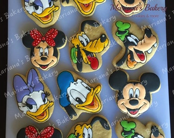 Mickey Mouse Club House birthday favor sugar cookies (2 dozen)