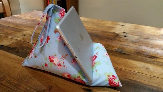 ipad tablet kindle bean bag stand in cath kidston ikea print. Black Bedroom Furniture Sets. Home Design Ideas