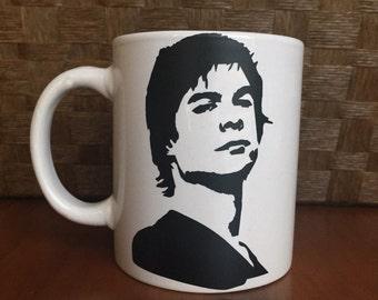 Damon Salvatore- Ian Somerhalder coffee mug!  *Coffee mug, coffee cup, funny coffee mug, funny coffee cup, gift, vampire diaries
