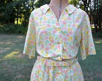 Floral 1940s Dress | Vintage Floral Dress | 40s Fashion Dress