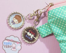 EXO Call Me Baby FULL chara (Red-Blue) / EXO kpop charms keychain / necklace / plug / dust plug