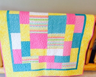 Baby or Toddler Quilt for a girl