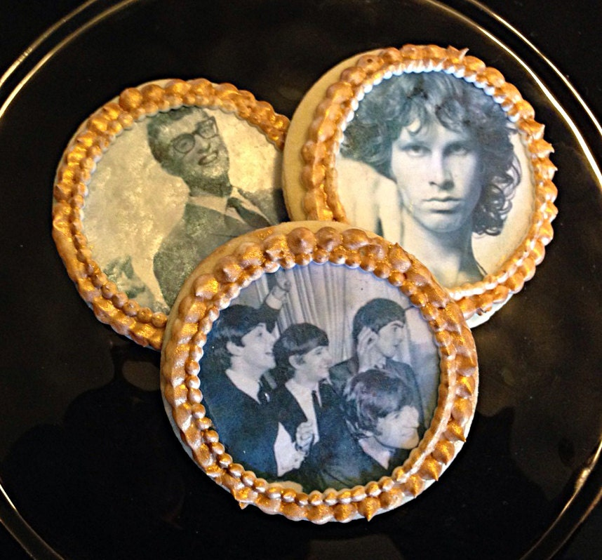 Edible Rock And Roll Legends Cupcake Cookie & Oreo Toppers
